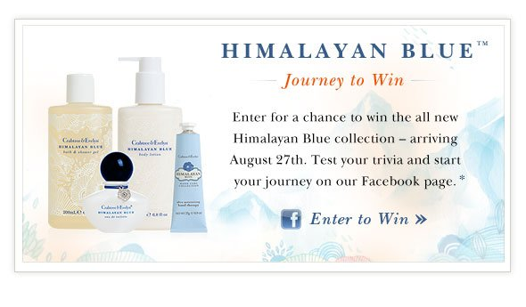 Enter to Win Himalayan Blue.