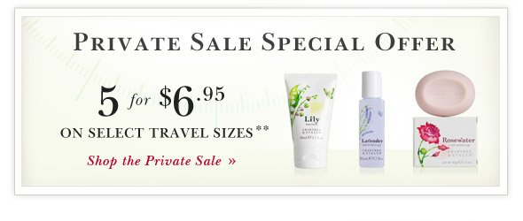Online Only 48-Hour Private Sale:  Special Offer.