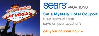 sears® vacations | Get a Mystery Hotel Coupon! | How much will you save on your vacation? | get your coupon now >