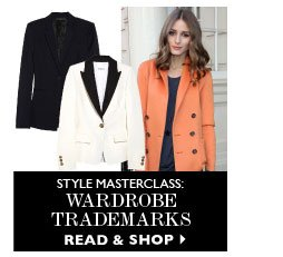 STYLE MASTERCLASS: Wardrobe trademarks. READ & SHOP