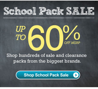 Shop School Pack Sale