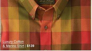 Luxury Cotton & Merino Shirt | $139