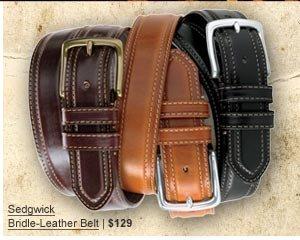 Sedgwick Bridle-Leather Belt | $129