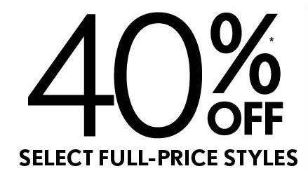 40%* OFF 