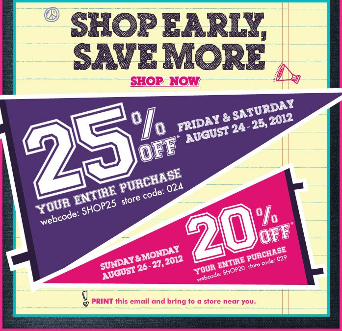 Shop Early, Save More