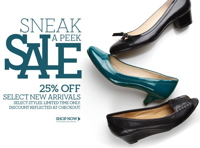 Click here to shop Sneak a peek sale