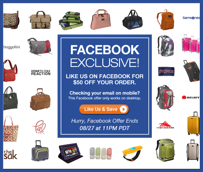 FACEBOOK EXCLUSIVE! | Introducing a special offer available exclusively for friends in our social network | Hurry, Facebook offer ends 8/27 at 11pm PDT | Like Us & Save