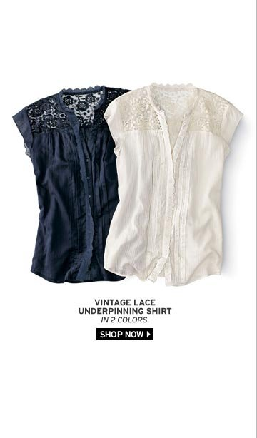 Vintage Lace Underpinning Shirt