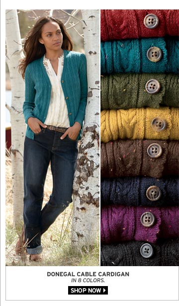 Donegal Cable Cardigan
