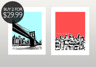 Shop City Posters by BirdAve