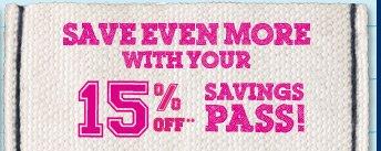 Savings Pass