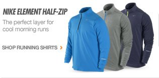 NIKE ELEMENT HALF-ZIP | The perfect layer for cool morning runs | SHOP RUNNING SHIRTS >