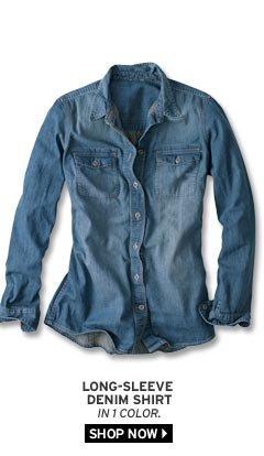 Long-Sleeve Denim Shirt