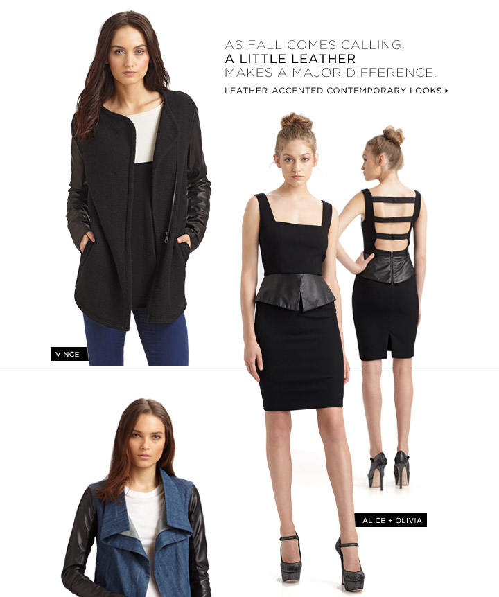 Leather-accented Contemporary Looks