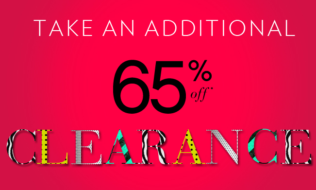 Take an Additional 65% OFF Clearance!