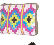 Aztec Sequin Clutch Bag