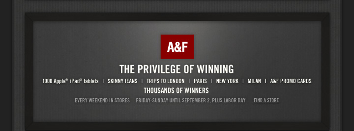 A&F | THE PRIVILEGE OF WINNING