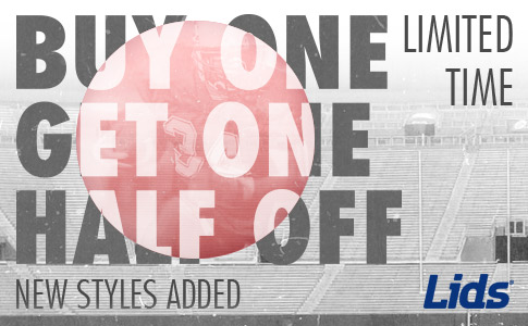 LIDS Buy One Get One Half Off Sale is back with Limited Exclusions!