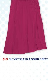 Elevator 2-in-1 Solid Dress >