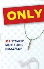 Stamped Matchstick Necklace >