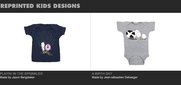 Reprinted kids designs