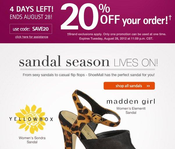 Sandal Season Continues!
