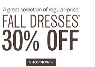 30% Off Fall Dresses