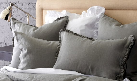 Vintage Chic Linen Bedding-- Visit Event