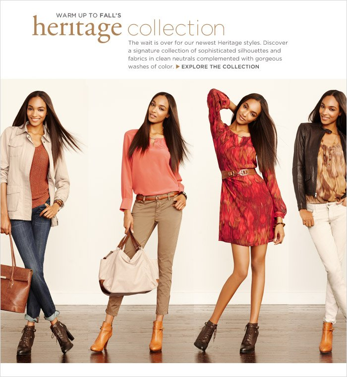 WARM UP TO FALL'S heritage collection | EXPLORE THE COLLECTION
