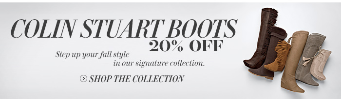 Colin Stuart Boots 20% Off