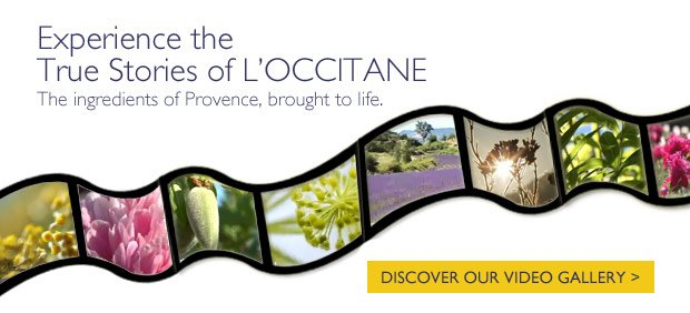 Experience the True Stories of L'OCCITANE. The ingredients fo Provence, brought to life. DISCOVER OUR VIDEO GALLERY