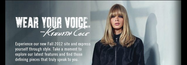 WEAR YOUR VOICE Kenneth Cole