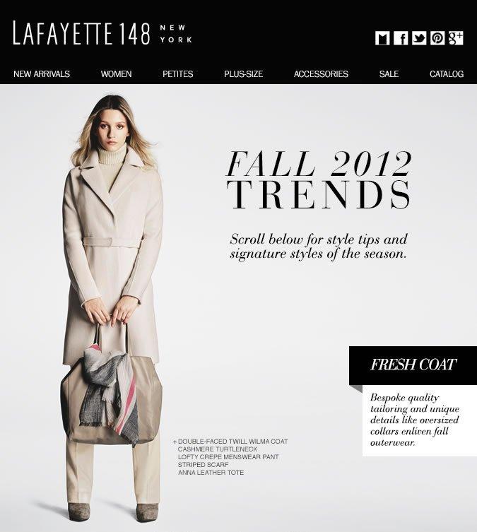 Lafayette's Fall 2012 Trends