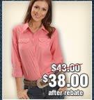 Wrangler Contrasting Cuff Plaid Western Shirt