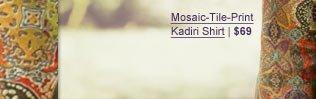 Mosaic Tile-Print Kadiri Shirt | $69
