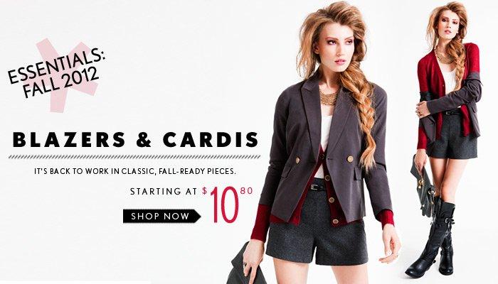 Fall Essentials - Blazers & Cardis - Shop Now