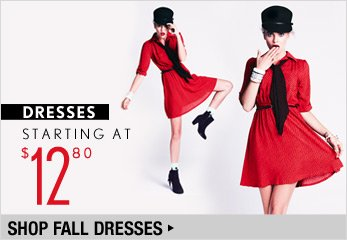 Fall Dresses Starting at $12.80 - Shop Now