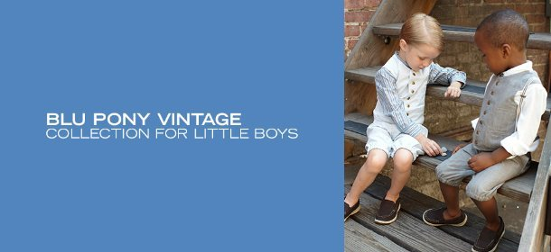 BLU PONY VINTAGE COLLECTION FOR LITTLE BOYS, Event Ends August 30, 9:00 AM PT >
