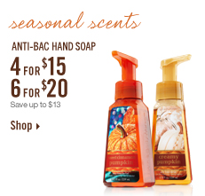 LIMITED TIME ONLY! Anti–Bac Hand Soap – 4 for $15 or 6 for $20