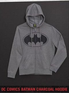 DC COMICS BATMAN CHARCOAL HOODIE