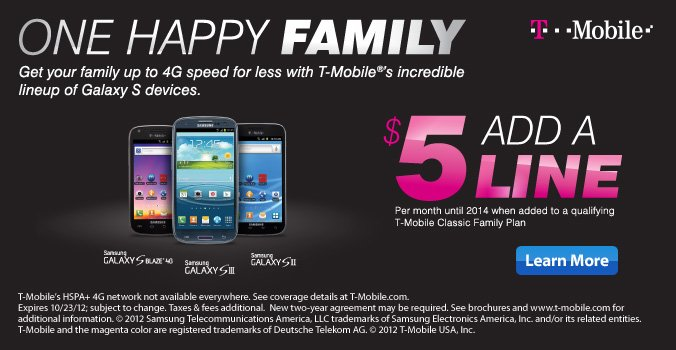 T-Mobile offer...learn more
