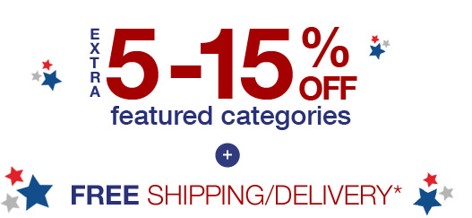 extra 5-15% OFF | featured categories | FREE SHIPPING/DELIVERY*