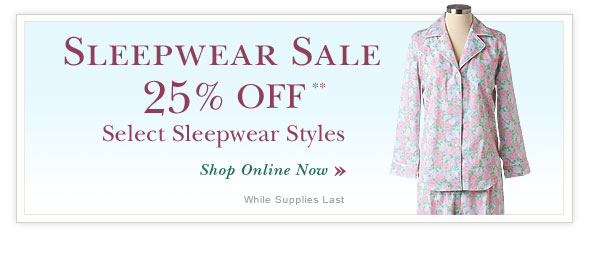 Sleepwear Sale - Shop Online.