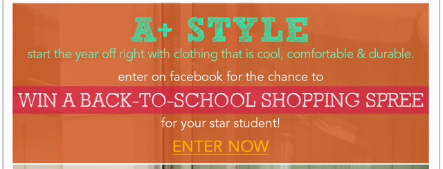Win a Back-to-School Shopping Spree!