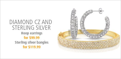 Diamond CZ and Sterling Silver