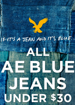 If It's A Jean And It's Blue... All AE Blue Jeans Under $30