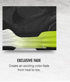 EXCLUSIVE FADE | Create an exciting color-fade from heel to toe.