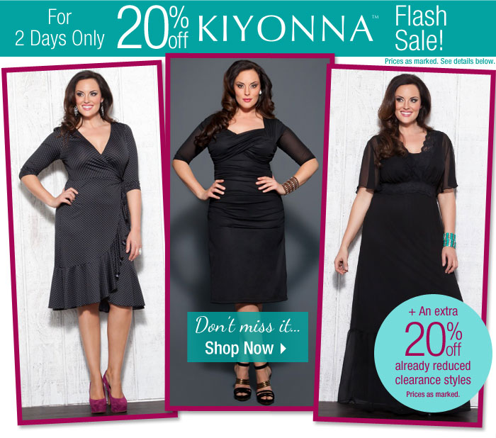 Shop the Flash Sale! 20% Off Kiyonna: 2 Days Only