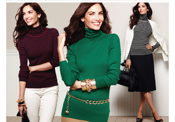 Our favorite ribbed sweater. The hunt for the perfect fall sweater ends here: meet our 60's chic, finely ribbed fave.  Apparel and Petites $69.50 Plus Sizes and Petite Plus Sizes $79.50. Shop Now.
