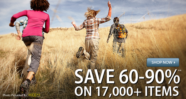 TODAY ONLY! Save 60-90% on over 17,000 items!